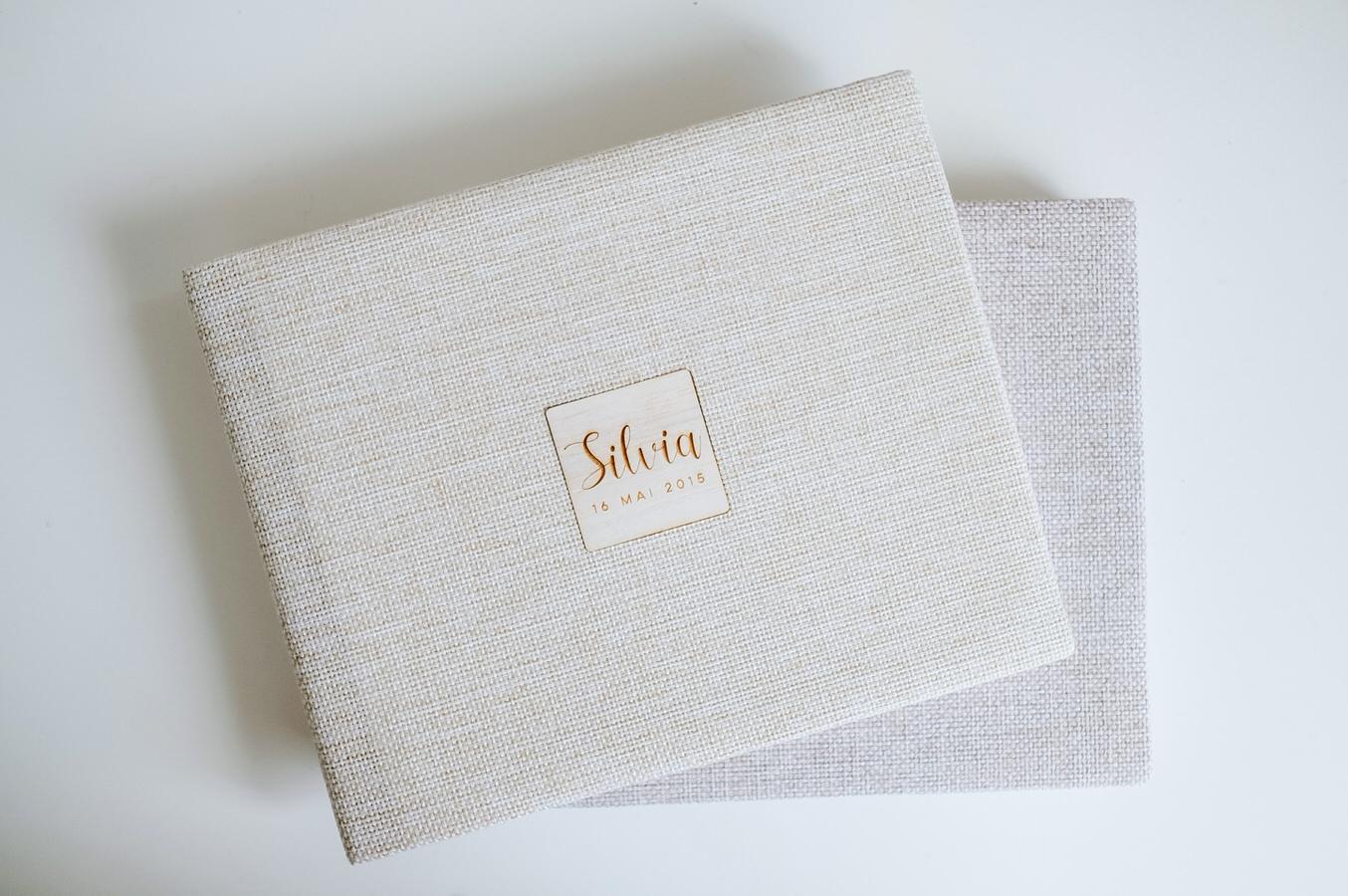Album foto coperta din material textil